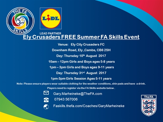 Free summer holiday skill sessions
