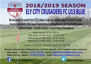 Under 13s open trials