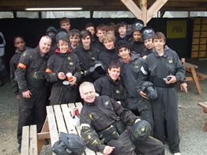 End of season paintballing
